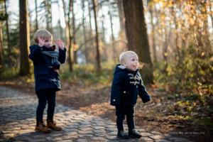 herfst kerst fotoreportage kinderen bos